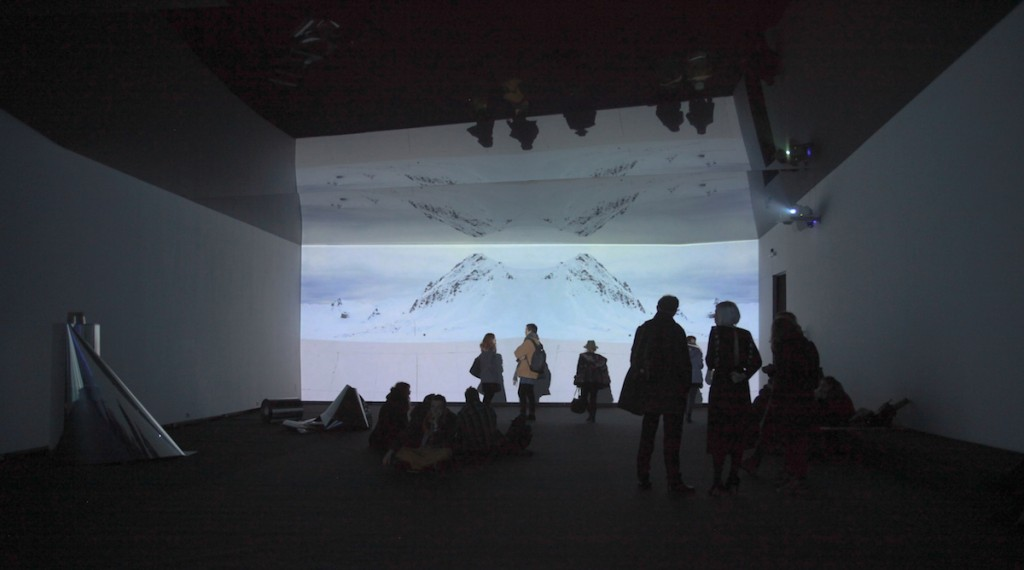 Emilija Škarnulytė, Twin ØSO, 2015, two-channel video installation, Dolby Surround audio,10 min.3