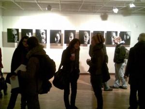Vaizdas is Pauliaus Račiūno parodos atidarymo Vilniaus fotografijos galerijoje