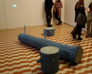 Žilvinas Landzbergas. Sniego eksportas. Instaliacijos vaizdas galerijoje Vartai, 2009