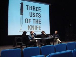 Antrosios dienos apibendrinanti diskusija, moderuojama NDG vadovės Lolitos Jablonskienės. Dalyviai - Jan Verwoert, Vivian Rehberg, Anders Kreuger.