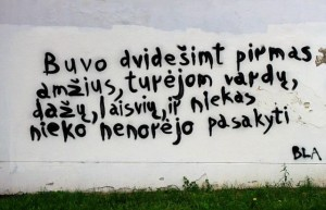 Uzupis graffiti