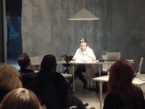 Susitikimas su Maria Fusco Šiuolaikinio meno centro skaitykloje.