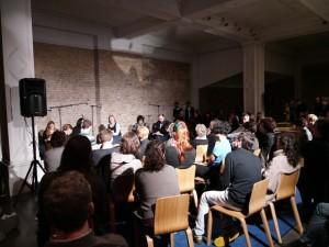 M. Fusco rezidencijos metu surengtas susitikimas Whitechapel galerijoje, Londone
