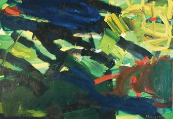 Rimvidas Jankauskas (Kampas). Vėjuotas vakaras, 1991, Drb., al., 80 x 113,5