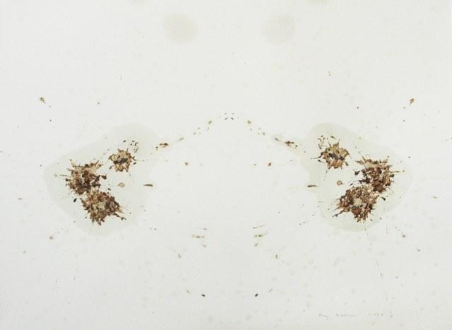 Ray Bartkus. JERK SAUCE SPILL. 2009, padažas, akvarelė, tempera, 17x23 cm