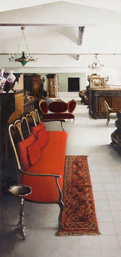 Patricija Jurksaityte Olandiskos istorijos 2, 2011 Aliejus, drobe? 101 x 47 cm