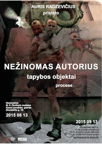 Auris Radzevicius parodos plakatas