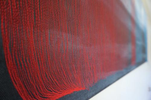 JURA 3D, akrilas, siuvimas, 2015 fragmentas, Liksaite Inga